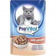 Паучи «PreVital classic for Cats» для кошек с лососем в соусе, 100 г.