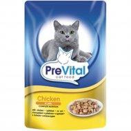 Корм для кошек «PreVital» курица в желе, 100 г.
