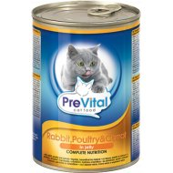 Корм для кошек «PreVital» кролик, птица, морковь в желе, 415 г