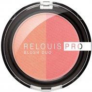 Румяна компактные «Relouis» Pro Blush Duo, тон 201, 5 г.