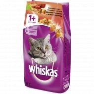 Корм для взрослых кошек «Whiskas» с говядиной и кроликом, 1.9 кг.