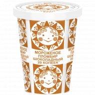 Мороженое «Пломбир» шоколадный, 225 г.