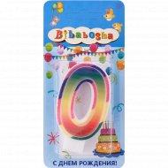Свеча для торта «Bibabosha» цифра № 0