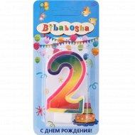 Свеча для торта «Bibabosha» цифра № 2