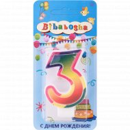 Свеча для торта «Bibabosha» цифра № 3