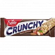 Батончик мюсли «CRUNHCY» с лесным орехом миндалем в шоколаде, 40 г.