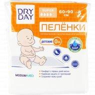 Пеленки гигиенические детские «DryDay» одноразовые 60х90, 5 шт.