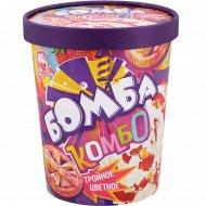 Мороженое «Бомба комбо» тройное цветное, 450 г