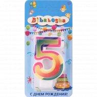 Свеча для торта «Bibabosha» цифра № 5