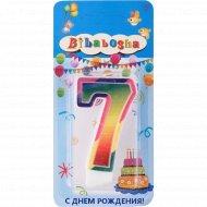 Свеча для торта «Bibabosha» цифра № 7