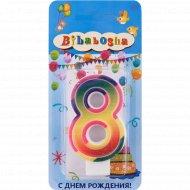 Свеча для торта «Bibabosha» цифра № 8