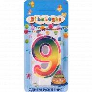 Свеча для торта «Bibabosha» цифра № 9