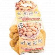 Картофель мытый продовольственный,калибр 30-50, 1 кг, фасовка 2.4-2.7 кг