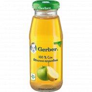 Сок «Гербер» яблоко-груша, 175 мл.