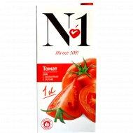 Сок «№ 1» томатный, с мякотью, 1 л.