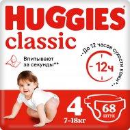 Подгузники «Huggies» Classic размер 4, 7-18 кг, 68 шт.