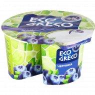 Творог «Eco Greco» мягкий, черника, 2%, 120 г.