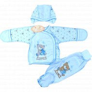 Коплект детский (ползунки, распашонка, чепчик) 0060, размер: 62-40.