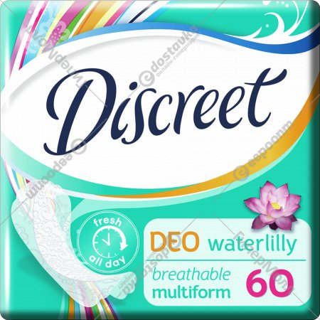 Прокладки женские «Discreet» Deo Water Lily Multiform Trio, 60 шт.