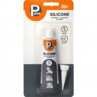 Герметик «P Plus» Silicone Sanitary, прозрачный, 50 мл