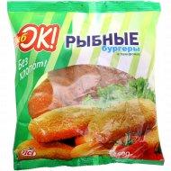 Рыбные бургеры «РыбОК» в панировке замороженные, 500 г.