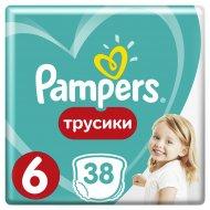 Трусики «Pampers» Pants 15кг+, размер 6, 38 шт.