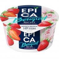 Йогурт «Epica» c клубникой и экстрактом розы, 4.8%, 130 г