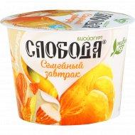 Биойогурт «Слобода» 6%, мандарин, мюсли, орехи, 210 г.