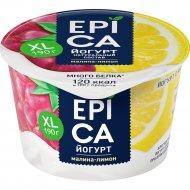 Йогурт «Epica» c малиной и лимоном, 4.8%, 190 г