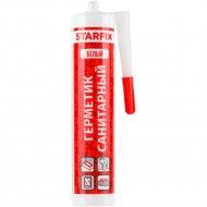 Герметик силиконовый санитарный «Starfix» белый, 300 мл