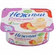 Продукт йогуртный «Нежный сливочный» с соком персика, 5%, 110 г.