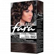 Крем-краска стойкая для волос «Fara Classic» тон 502 темно-коричневый.