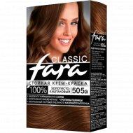Крем-краска для волос «Fara Classic» тон 505А, золотисто-каштановый.
