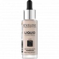 Тональный крем Eveline «Liquid Сontrol», 005 Ivory, 30 мл.