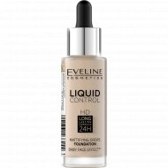 Тональная основа «Eveline» liquid control, 010 тон, 32 мл.