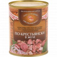 Консервы мясные «По-крестьянски в желе» 340 г.