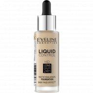 Тональная основа «Eveline» liquid control, 015 тон, 32 мл.