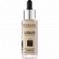 Тональный крем Eveline «Liquid Сontrol», 015 Light Vanilla, 30 мл.
