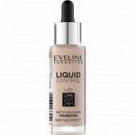 Тональная основа «Eveline» liquid control, 020 тон, 32 мл.