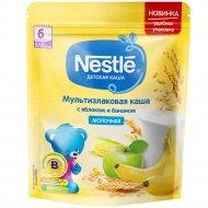 Каша молочная мультизлаковая «Nestle» с яблоком и бананом, 220 г.
