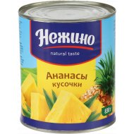 Ананасы «Нежино» кусочки, 830 г.