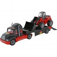 Автомобиль-трейлер «Mammoet» + трактор-погрузчик.