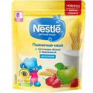 Каша молочная «Nestle» пшеничная, с яблоком и земляникой, 220 г.