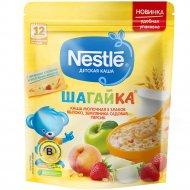 Каша молочная «Nestle» 5 злаков, яблоко, земляника, персик, 200 г.