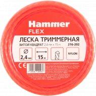 Леска триммерная «Hammer» 2.4 мм х 15 м.