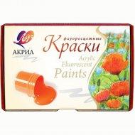 Краски акриловые флуоресцентные, 6 цветов.