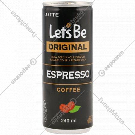 Напиток кофейный «Let's Be» эспрессо, 240 мл.