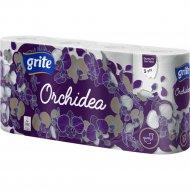 Туалетная бумага «Grite Orchidea Gold» трехслойная, 8 рулонов.