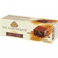 Бисквит шоколадный «Брауни» с грецким орехом и карамелью, 40 г.