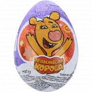 Яйцо шоколадное «Оранжевая корова» с сюрпризом, 20 г